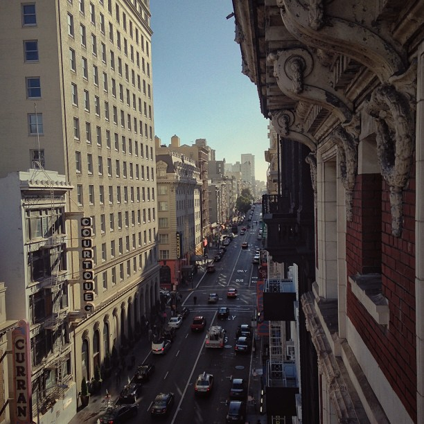 View from our hotel room, I could live right here | #LeviStraussSA_UStour #501sForAfrica  (at Union Square Plaza Hotel)