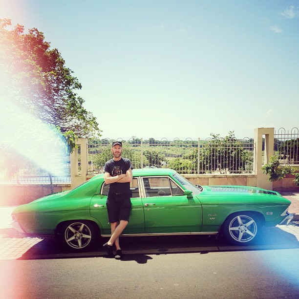 @xdoomx and his green mamba | Chevrolet Chevelle | How this one @thobanj @garethpon  (at Wonder Market)