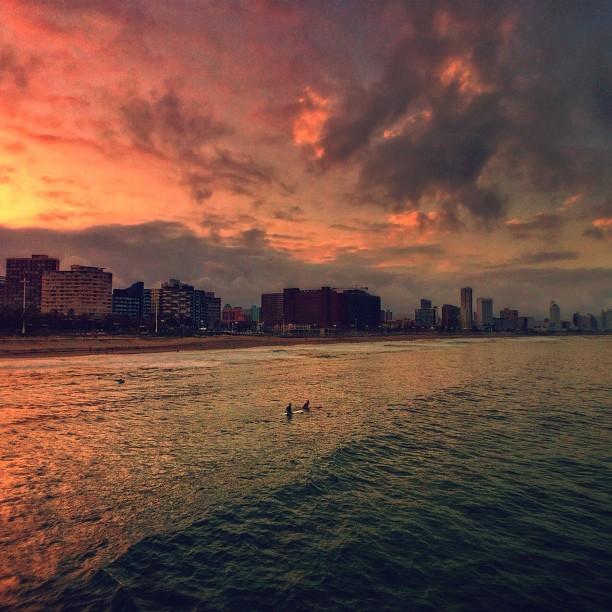 Sunset Bike Ride | It's good to be back in Durban | #pedalpics #igersdurban #sunset #durban  (at moyo uShaka Pier)