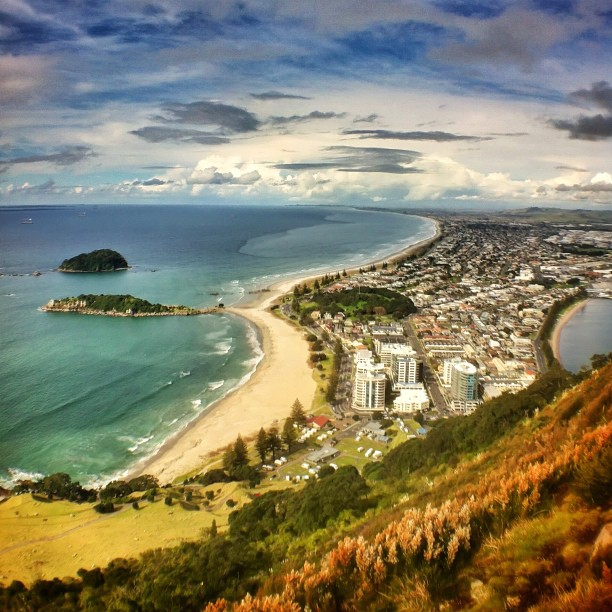 Tauranga | View of my family's home town from the top of the Mt (Taken with  Instagram  at Mount Maunganui)