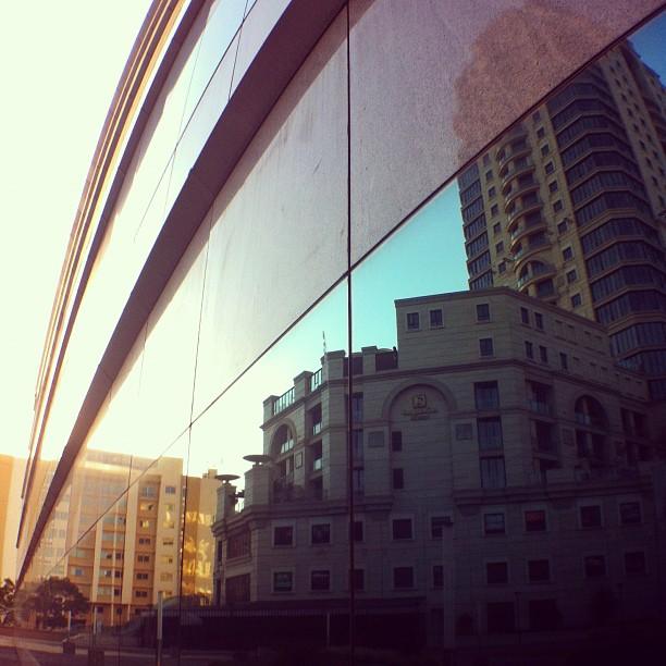 Reflections yesterday in #sandton #sunset #instawalkjhb  (Taken with  Instagram  at Michael angelo hotel)