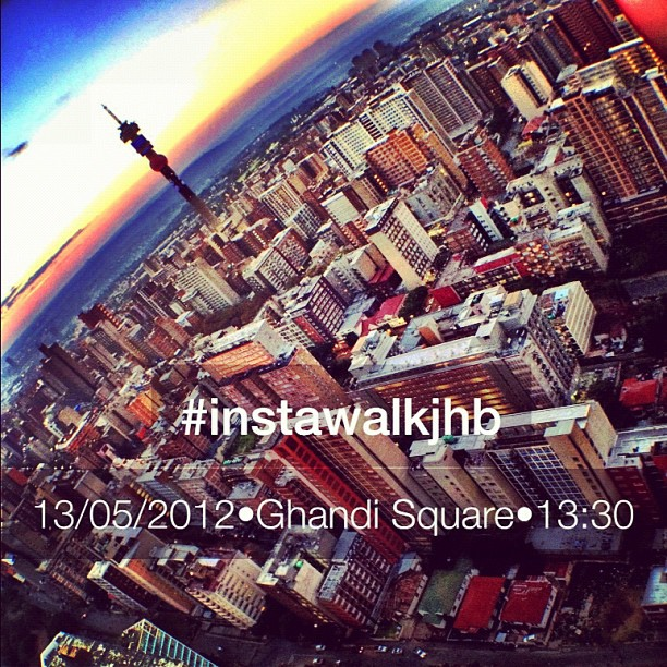 Just a reminder about #instawalkjhb tomorrow. You can also register on: instagramers.co.za (Taken with  Instagram  at Ghandi Square)