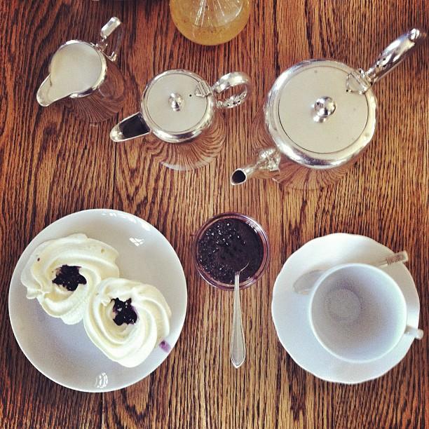 Tea & Scones with the best purple berry jam (Taken with  instagram )