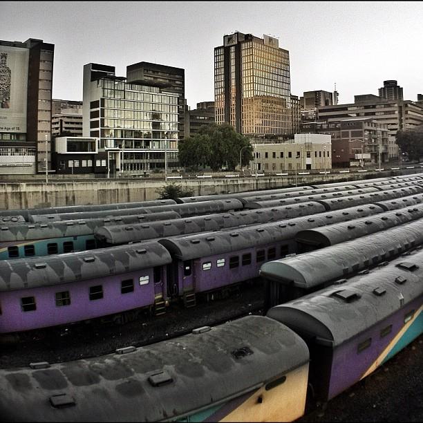 Train yard - #sunrise #instawalkjhb (Taken with  Instagram  at 70 Juta Street)