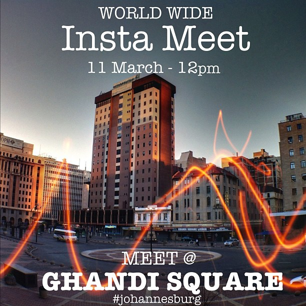 "It's #instameet time! Starting at 12 noon, 11 March in the center of Ghandi Square bus station, from there we'll explore the wonders of ""Bank City"" - All welcome! For info & RSVP go to:  http://goo.gl/4zBcH  Please: #reblog #share #invite (Taken with  Instagram  at Ghandi Square)"