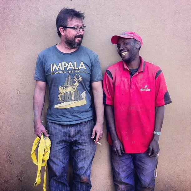 #hardatwork - Len and Dumisani #bambam #kragdrag #impala (Taken with  instagram )