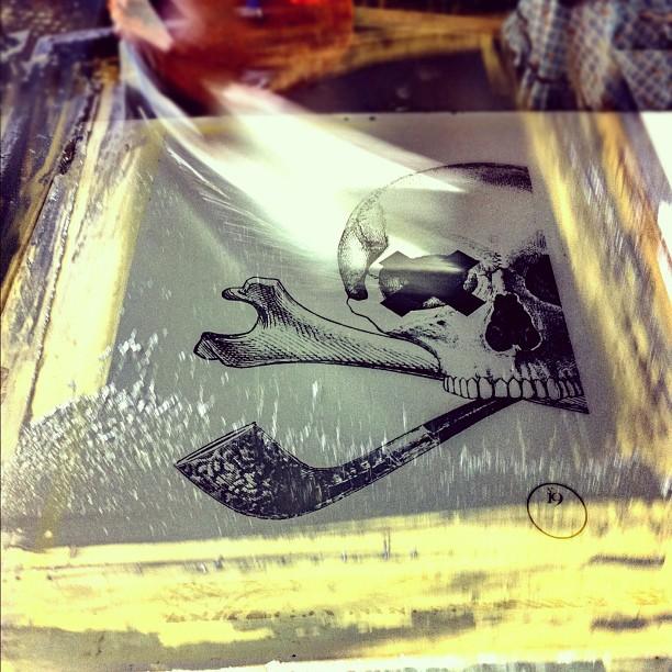 #screenprinting #innercityink #no19 #skulls (Taken with  instagram )