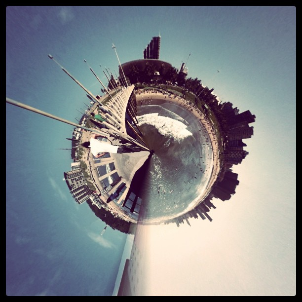This weekend, I'm returning to my little planet, life is different there… (Taken with  instagram )