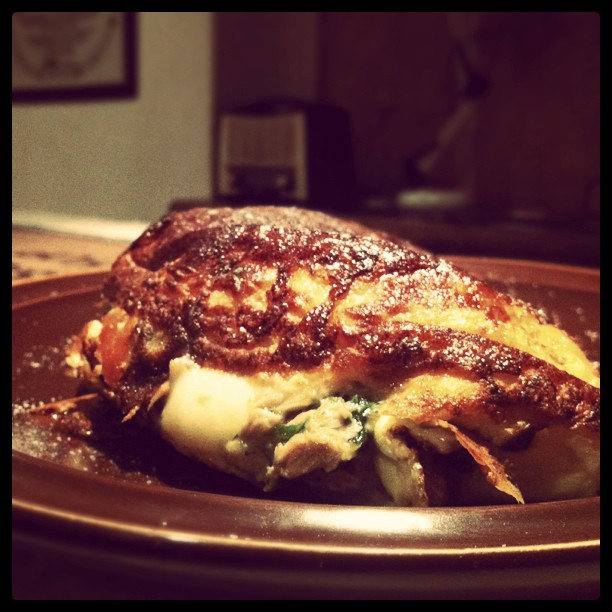 Tuna Basil Mozzarella Omelette (Taken with  instagram )