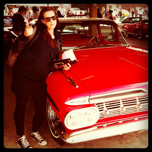 Mel with her Impala (Taken with  instagram )