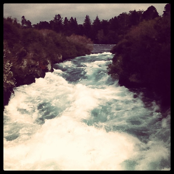The great Huka Falls pumps 200,000L a second! (Taken with  instagram )