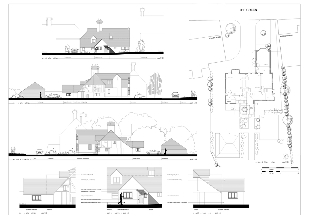 house extension plans and elevations