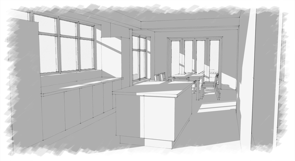 Extended kitchen layout