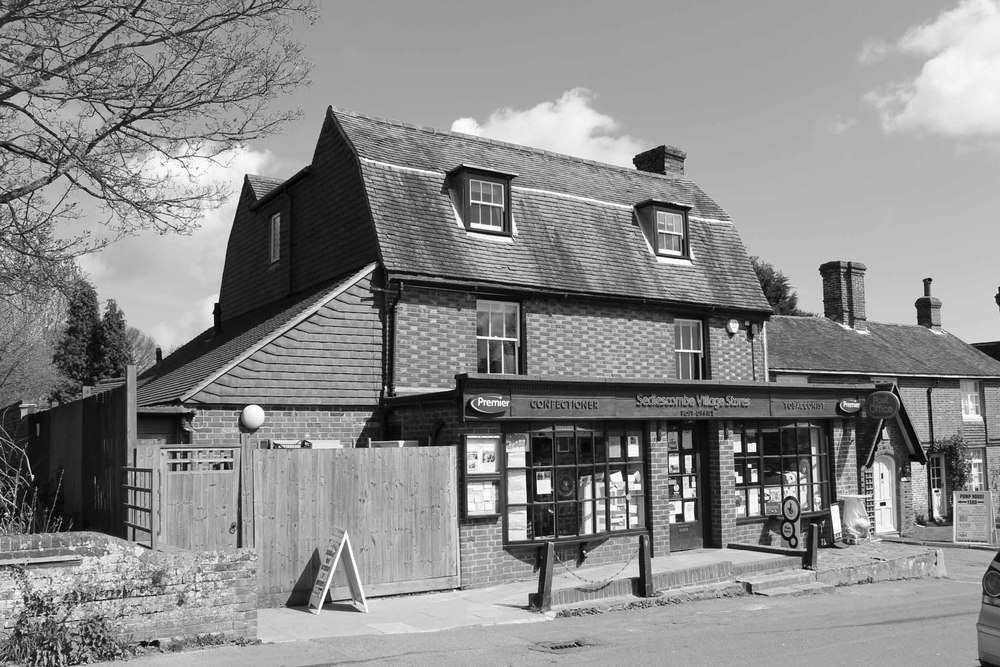Front elevation of Sedlescombe village store