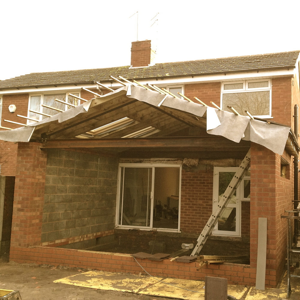 Harborne internal remodel and rear extension mainwood for House roof construction