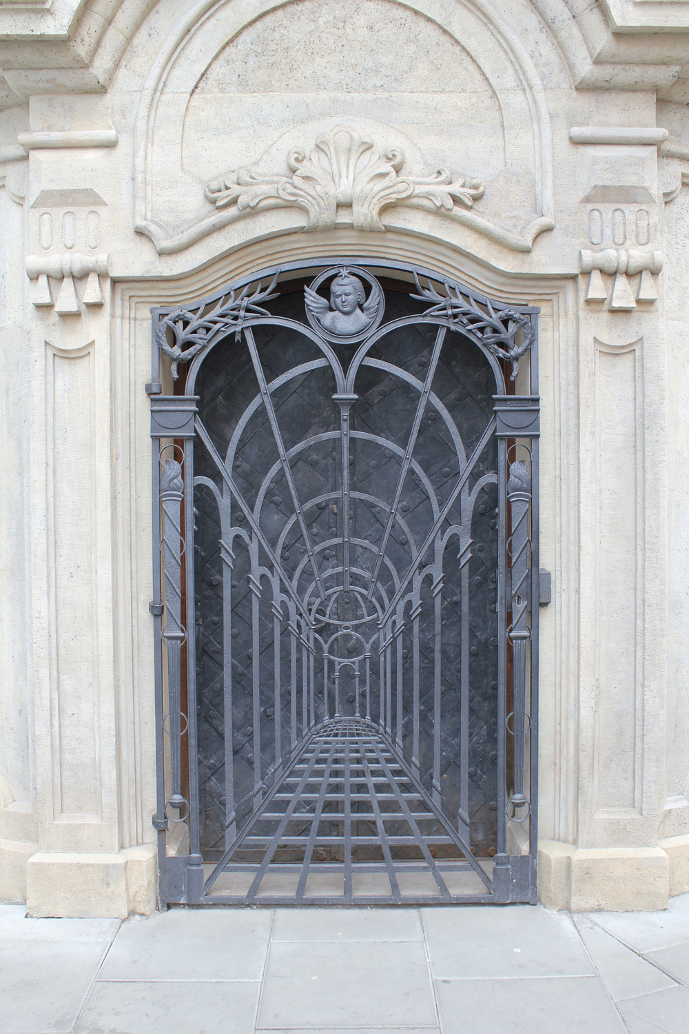 Crypt door of the Piarist Church Kracow