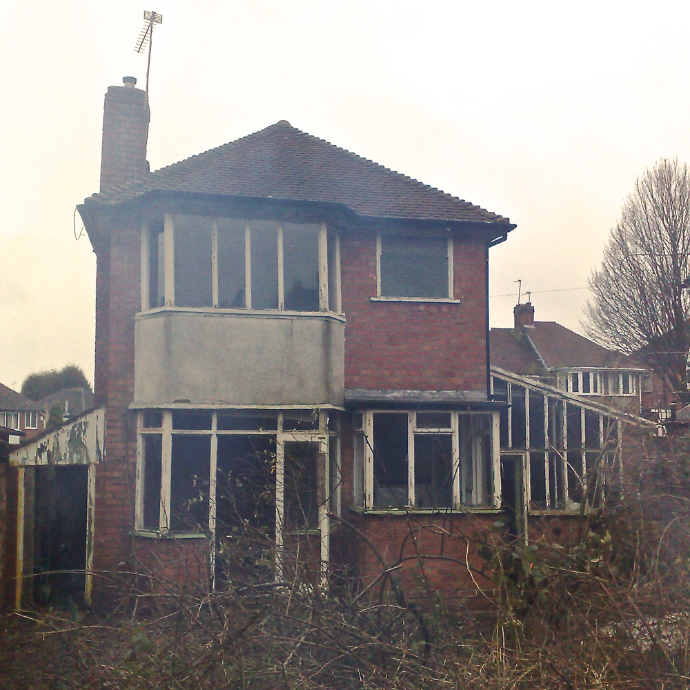 Rear elevation of 1930's Detached property prior to renovation