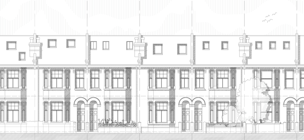 Front Elevation Of Houses In London : House extension balham — mainwood architects