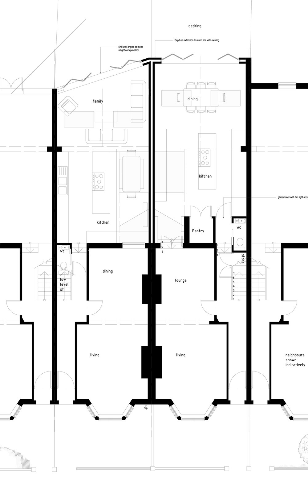 house extension balham mainwood architects house extension drawing plans for swindon project ben