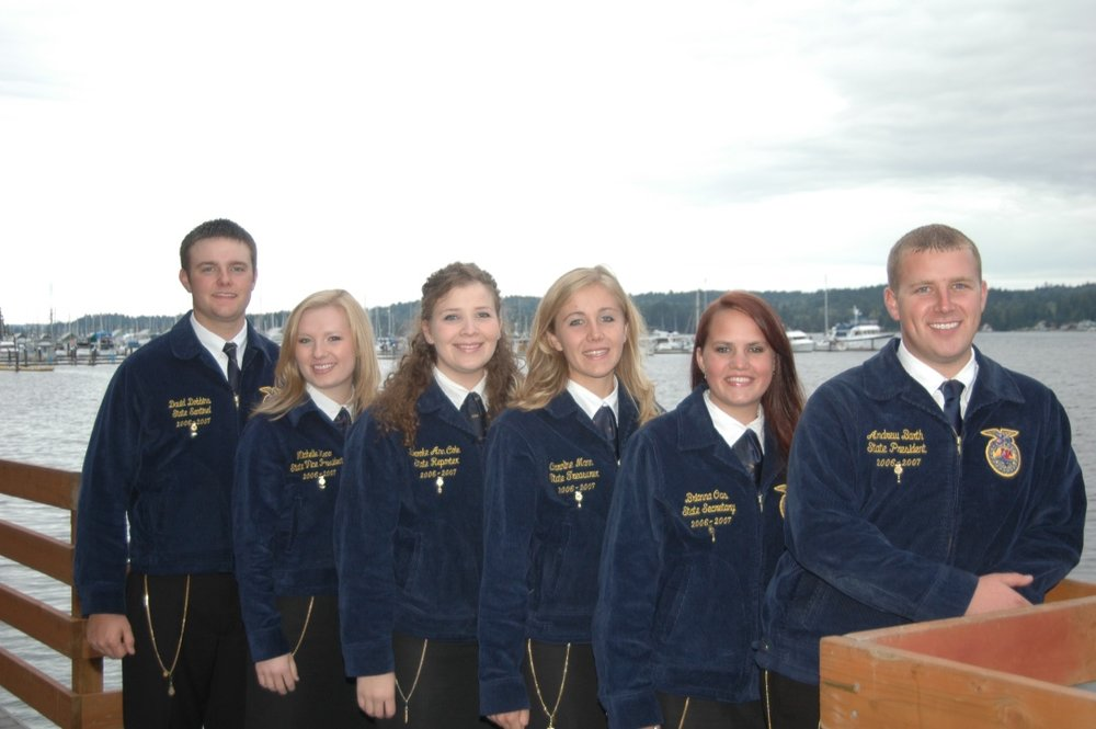 2006-2007 Officers from left to right: Sentinel David Dobbins, Vice President Michelle Keno, Reporter Brooke Ann Cole, Treasurer Caroline Mann, Secretary Brianna Oas, President Andy Barth