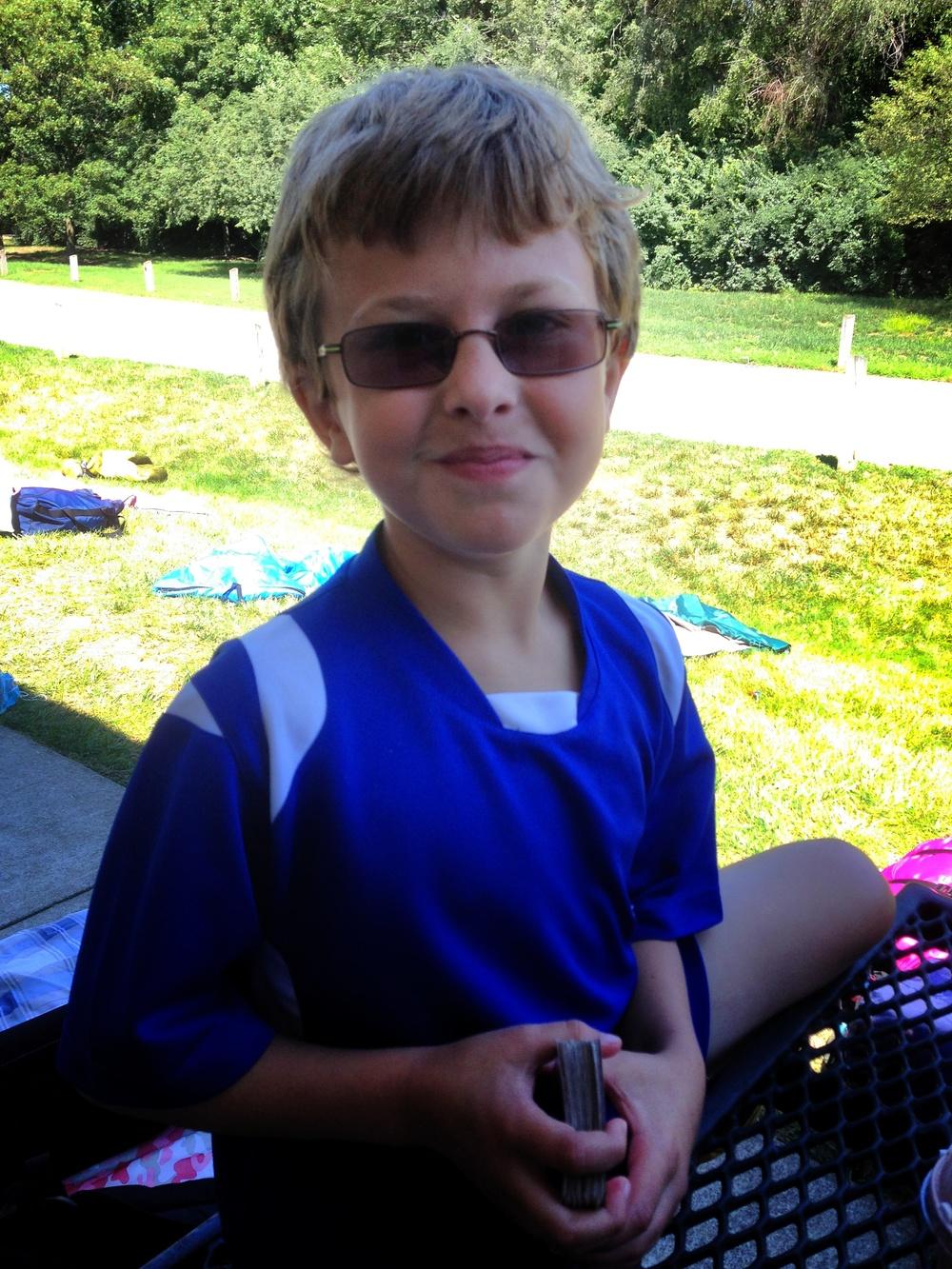 Evan at Camp