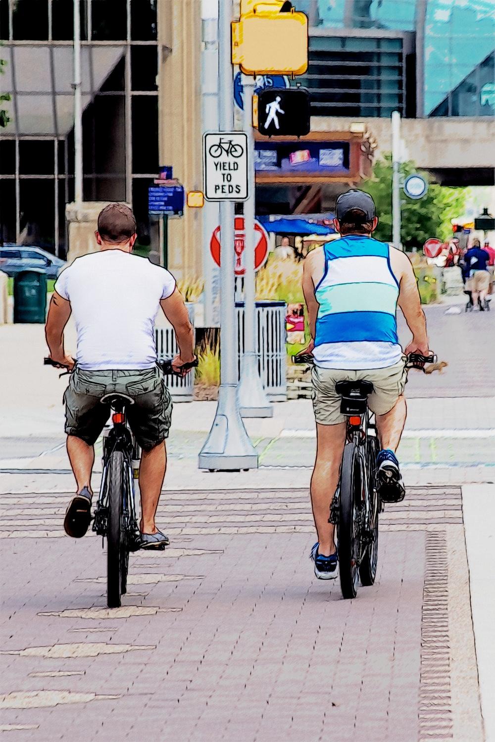 2 cyclists?