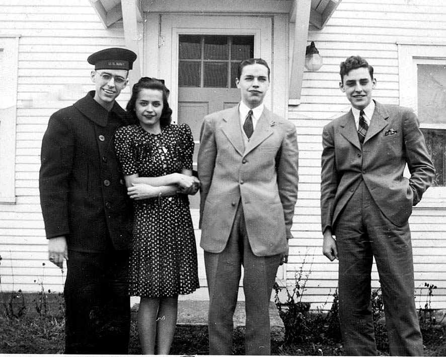 Uncle Wentzel, with Aunt Betty, Uncle Paul, and Uncle George.