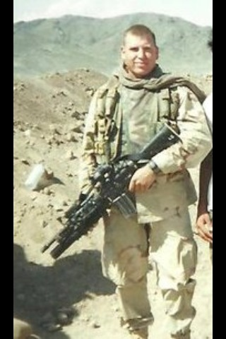 Cousin Betsy's son, Ben. Served in Afghanistan and Iraq. Was injured when their hum-vee ran over an IED on Valentine's Day, 2004. Earned a Purple Heart. Thankfully he returned home alive!