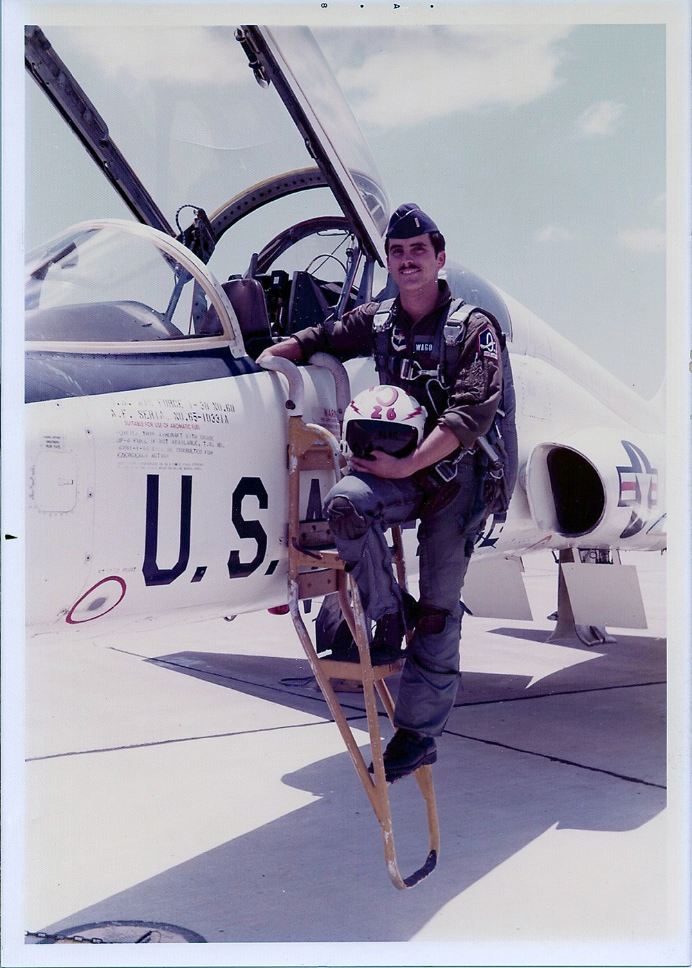 My cousin Doug, in the Air Force.