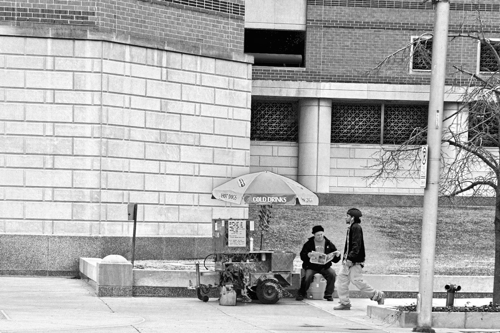Street Vendor on Washington Street