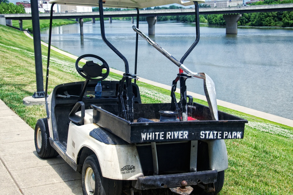 These vehicles get a lot of use at White River State Park. Check out the other Custom Carts made by Tommy B's.