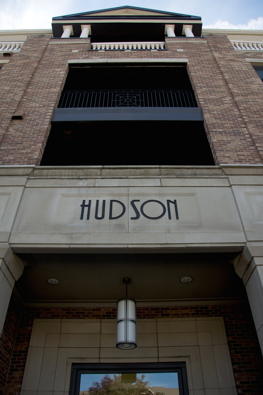 The north entrance of the Hudson Condos on Ohio Street.