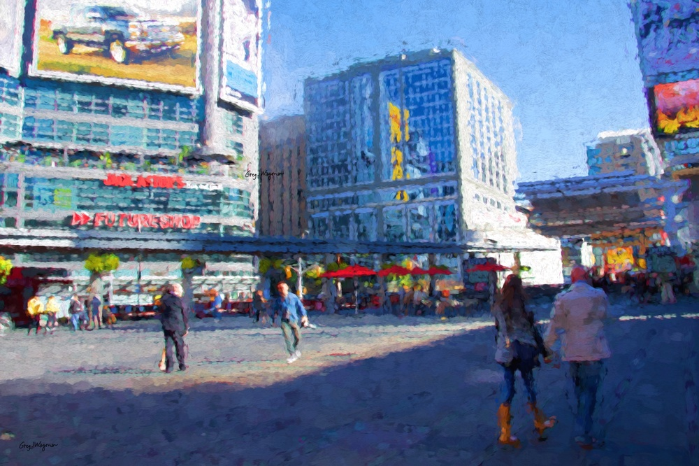Yonge Street and Dundas Square. Click photo to view in gallery.