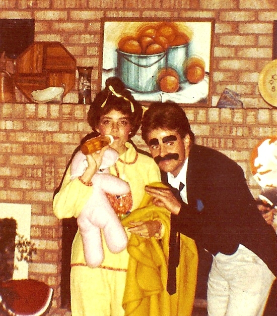 Cindy as a baby, and Mark as Groucho Marx!