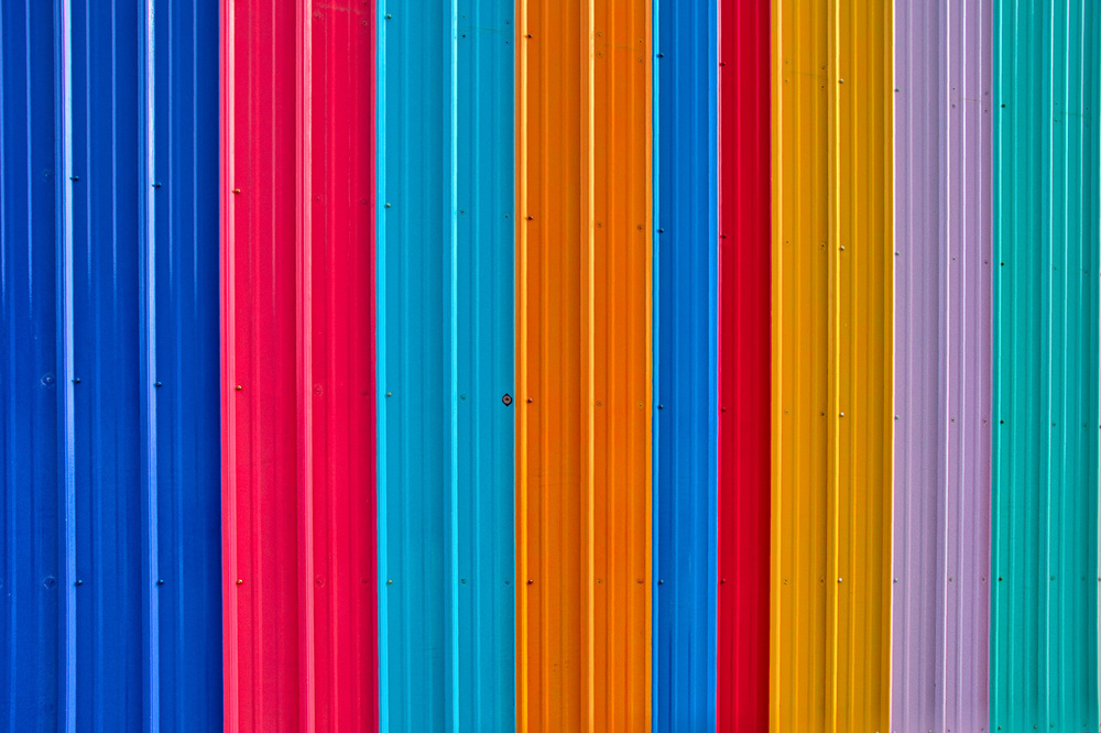 Color Panels on Delaware Street