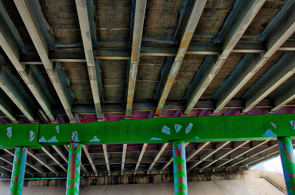 Under I-70 on the Monon Trail.