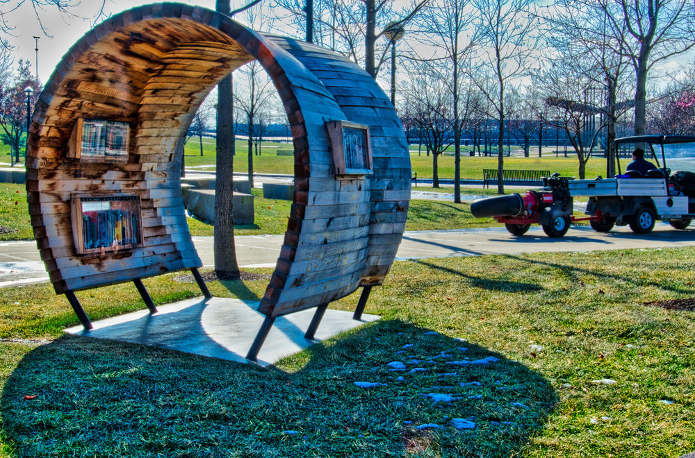 Read about this White River State Park book sharing station here.