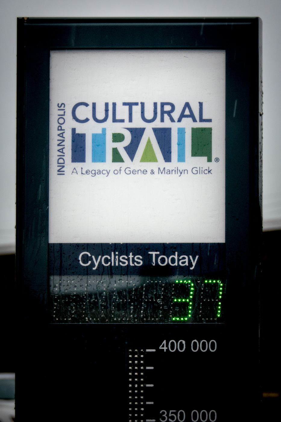 Today I was cyclist #37. Yesterday at about the same time I was #212.