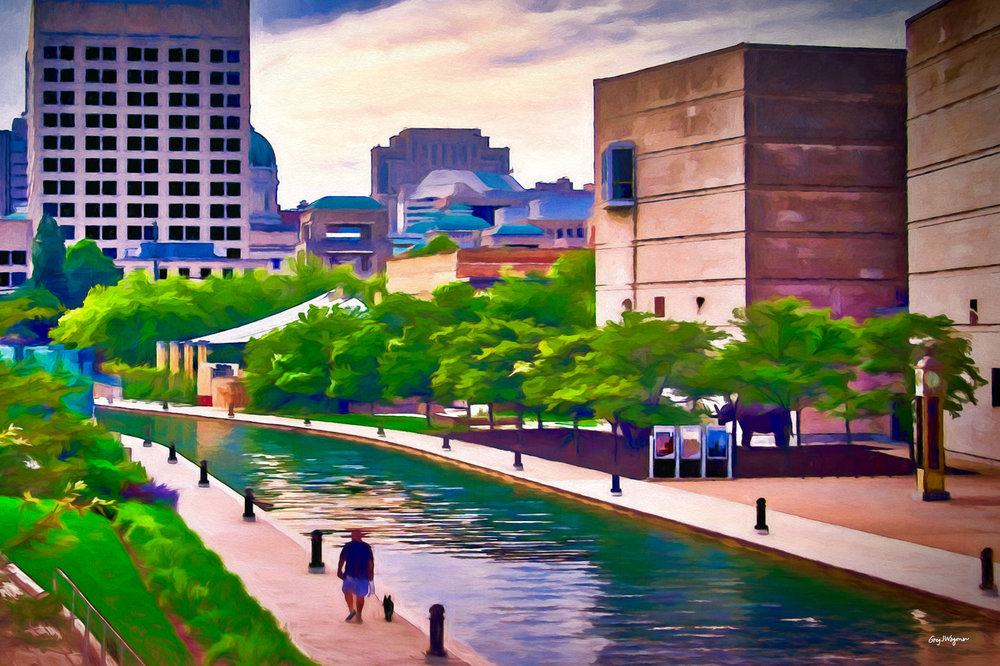 My newest work, painted digitally. Click the Canal to view a larger size in my  Canal Walk  gallery.