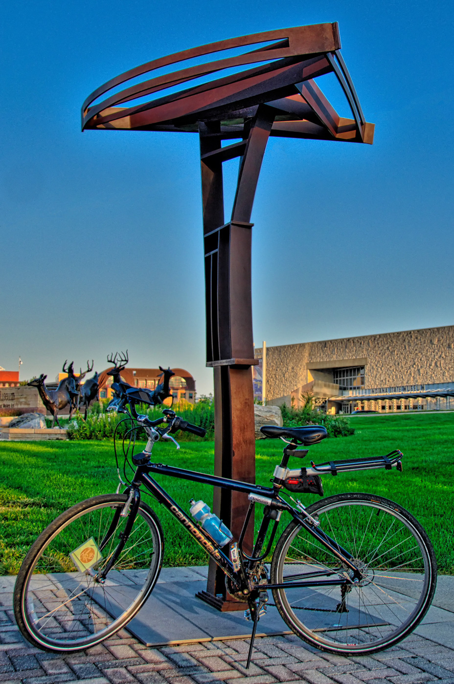 My Cannondale bike in front of MINUTEMAN.