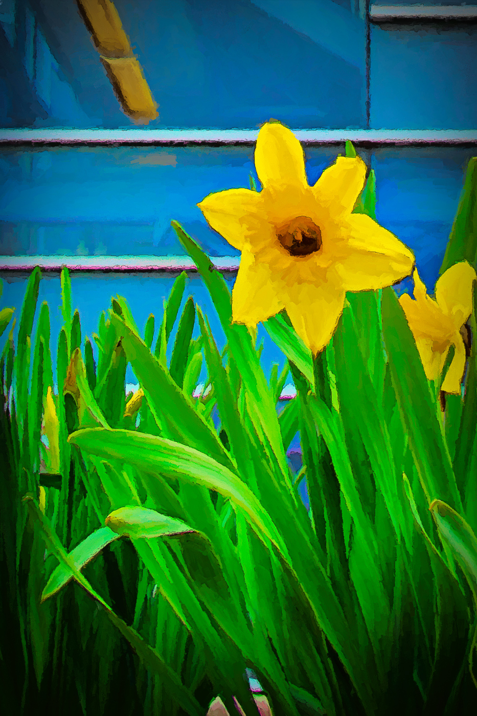 Click the daffodil to see more painted flowers in my  Artistic Flowers  gallery.