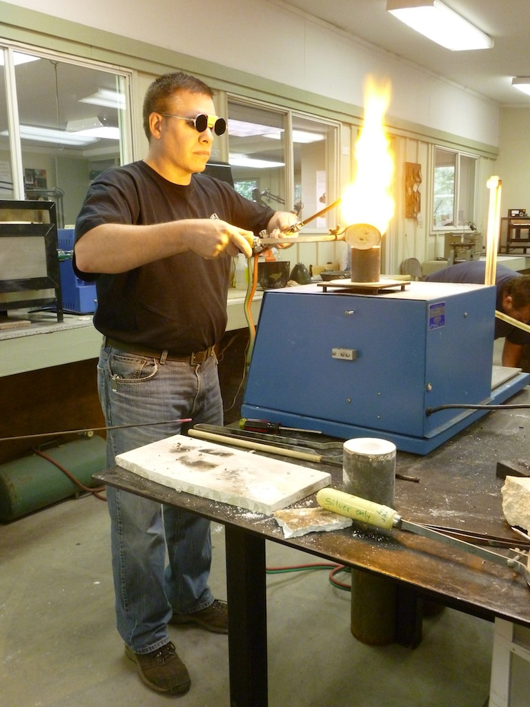 Demonstrating vacuum casting
