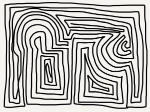 doodle maze bw