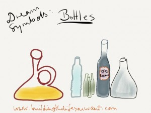 dream symbol bottles