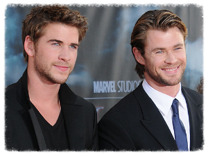 Hemsworth brothers, actors.  Pic swiped from cosmopolitan.co.uk