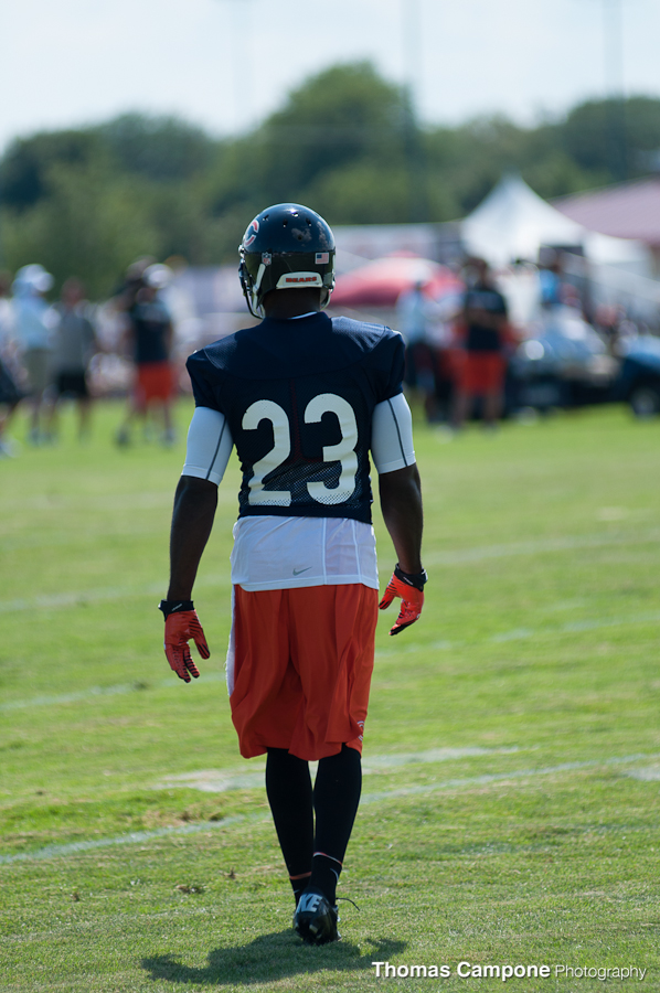 Devin Hester walking back to the huddle after the play