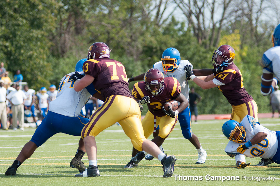 Julius Holley scampers through the defense.