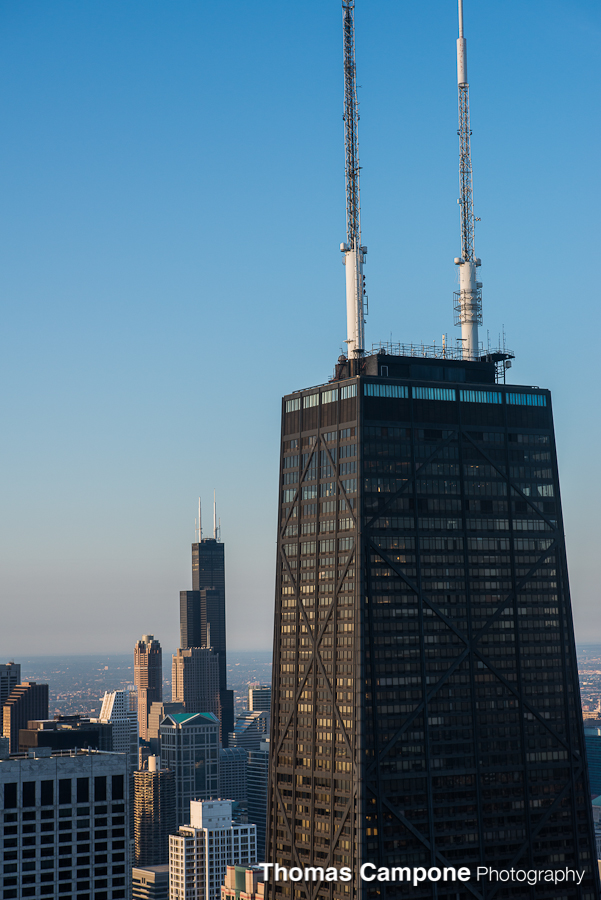 Chicago Helicopter Tour - Hancock Building - Willis Tower
