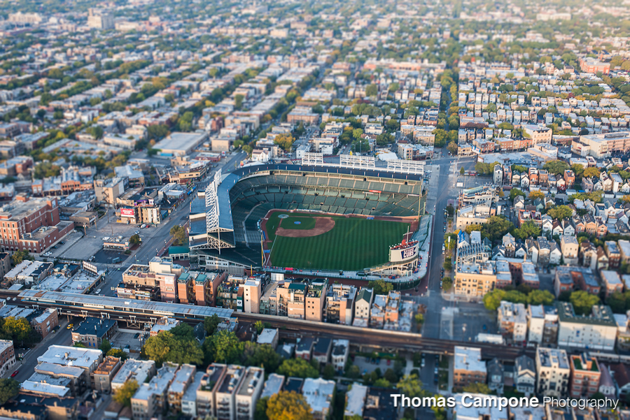 Chicago Helicopter Tour - Wrigley Field