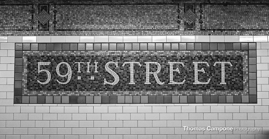 59th Street Subway Sign